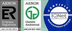 UNE ISO 14001:2004          UNE ISO 9001:2008